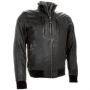 Richa Lockheed Casual Style Leather Jacket Black